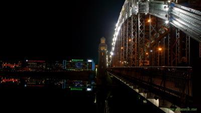 Вот такое начало зимы в Питере... (мост Петра Великого)