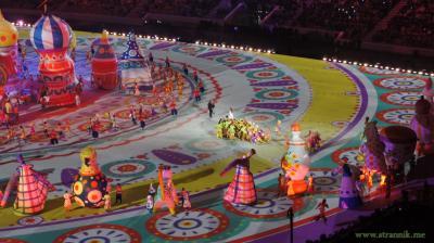 Церемония открытия Олимпиады в Сочи, 7 февраля 2014