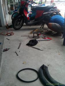 Ремонт мотобайка на Самуи, Чавенг