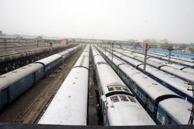 Поезда в Индии.