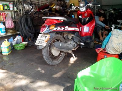 Сколько стоит ремонт колеса мотобайка в Таиланде?